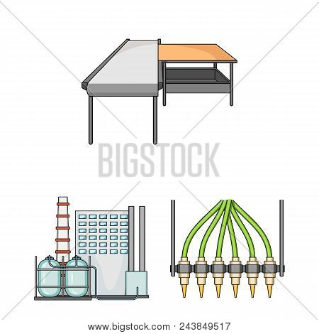 Equipment And Machine Cartoon Icons In Set Collection For Design.technical Progress Of The Factory V