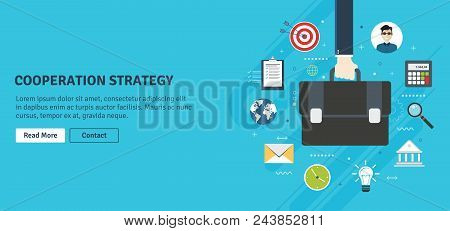 Cooperation Strategy,business Vision And Leadership. Businessman Hand Holding A Briefcase. Target, B
