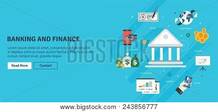 Banking And Finance, Economy, Investment And Payment. Online Payment, Credit Card, Check, Bitcoin Or