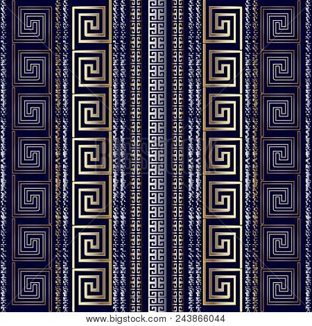 Striped Geometric Greek Seamless Pattern Border Wallpaper With Gold 3d Abstract Grunge Chalk Vertica