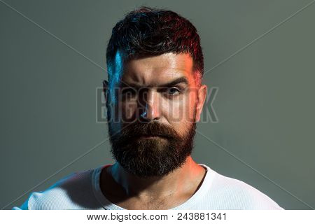 Man. Male Portrait Sports Trainer, Muscular Attractive Athlete In Sport Dress. Sport, Active Lifesty