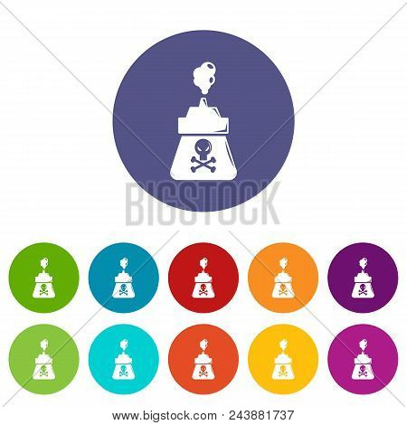 Poison Icons Color Set Vector For Any Web Design On White Background