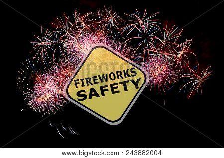 Fireworks Safety Reminder Background Before The Holidays