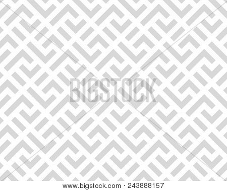The Geometric Pattern With Stripes . Seamless Vector Background. White And Grey Texture. Graphic Mod