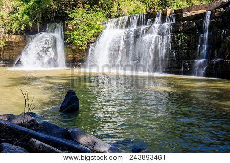 Waterfall Name Is Si Dit At Khao Kho Phetchabun.