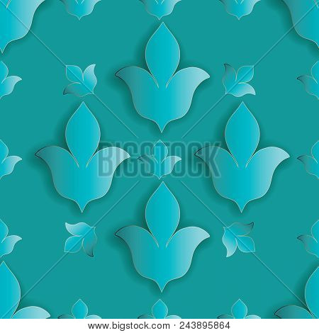 floral light blue 3d vector photo free trial bigstock floral light blue 3d vector photo