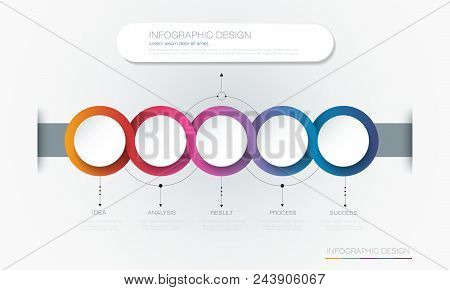 Vector Infographic 3d Circle Label Template Design.infograph With 5 Number Options Or Steps. Infogra
