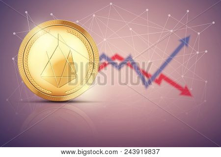 Background Of Eos Exchange Trading. Time To Market Trading. Profit And Loss. Editable Vector Illustr