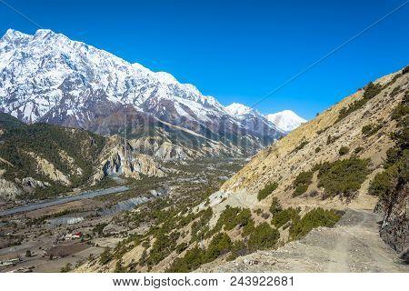 View Of The Runway Airport Hamde, Nepal.