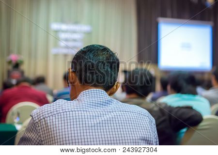 Business Conference And Presentation In The Conference Hall