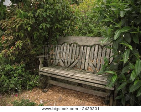 Park Bench With Heart Shaped Backrest