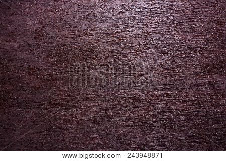 Wall With A Decorative Imitation Of Bark Of A Tree. Background, Texture.