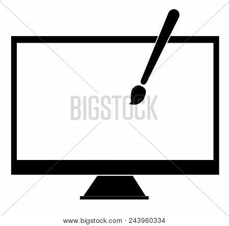 Web Design Icon In Trendy Flat Style On White Background. Web Design Symbol For Your Web Site Design