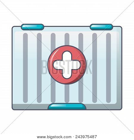 First Aid Kit Icon. Cartoon Of First Aid Kit Vector Icon For Web Design Isolated On White Background