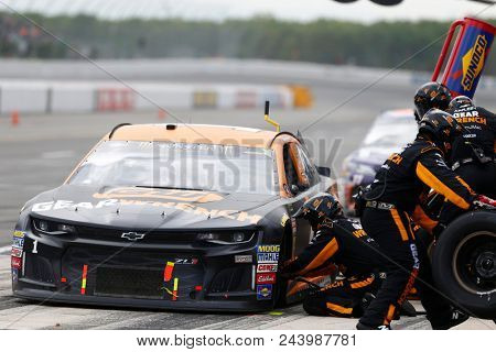 June 03, 2018 - Long Pond, Pennsylvania, USA: Jamie McMurray (1) comes down pit road for service during the Pocono 400 at Pocono Raceway in Long Pond, Pennsylvania.