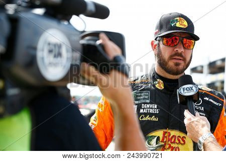 June 01, 2018 - Long Pond, Pennsylvania, USA: Martin Truex, Jr (78) hangs out on pit road before qualifying for the Pocono 400 at Pocono Raceway in Long Pond, Pennsylvania.