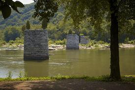 Remnants Of Civil War Bridge