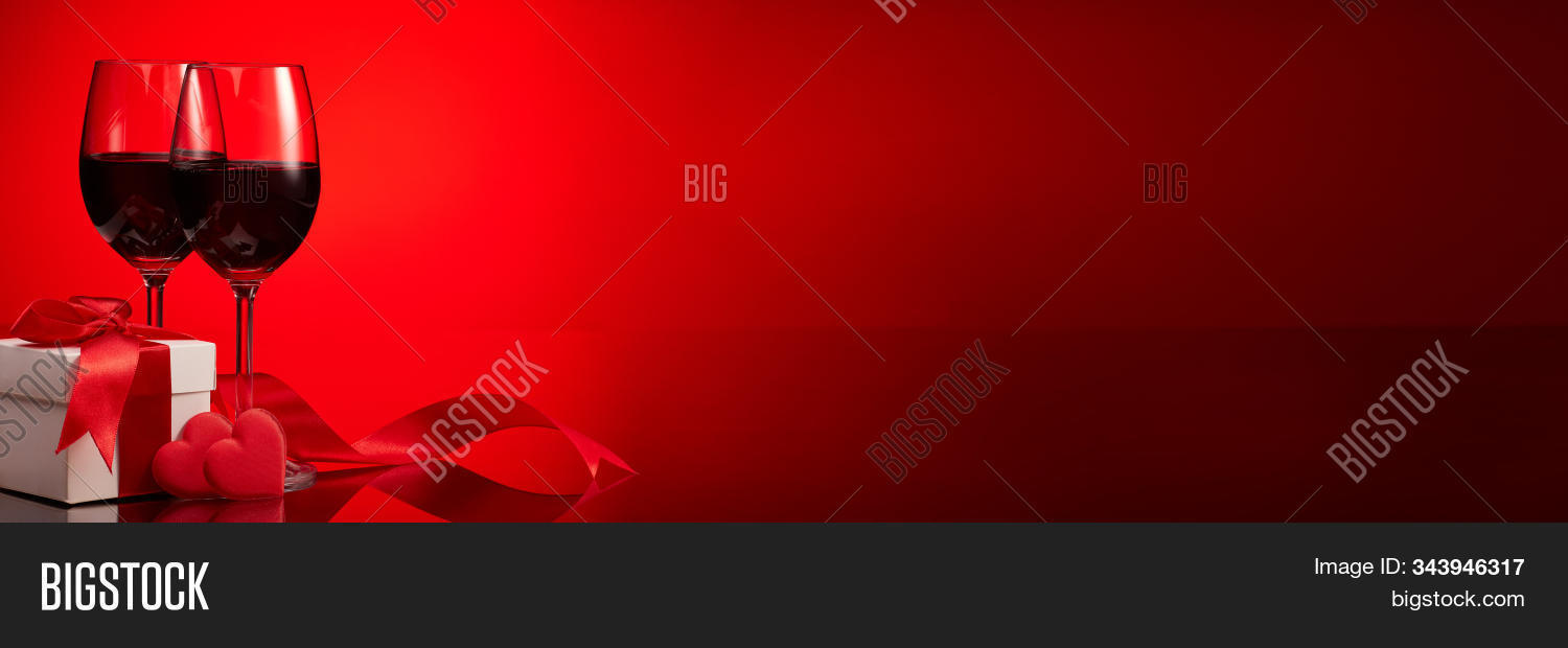 Gift Box Red Hearts Image Photo Free Trial Bigstock