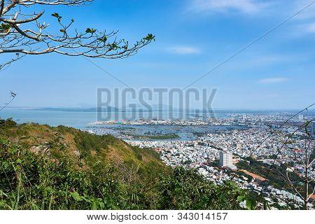 Vung Tau, Vietnam - December.24.2020: View Over Vung Tau At Christmas,