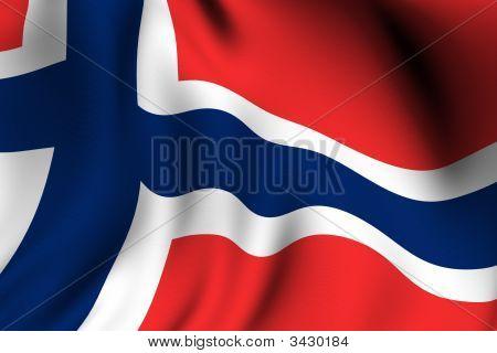 Rendered Norwegian Flag