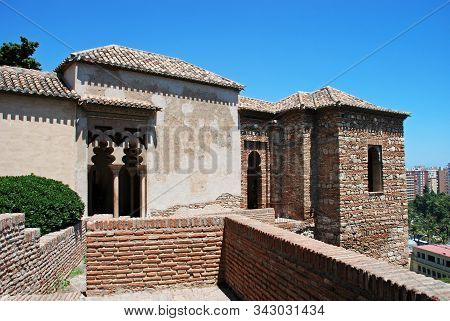 Malaga, Spain - July 7, 2008 - Elevated View Of The Torre De Maldonado Of The Nasrid Palace At The M