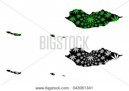 Socotra Governorate (governorates Of Yemen, Republic Of Yemen) Map Is Designed Cannabis Leaf Green A