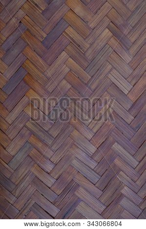 Abstract Weave Pattern Background Of Natural Bamboo