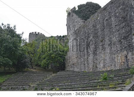 The Grounds Of The 15th Century Rumeli Hisari Fort In The Sariyer District Of Istanbul, Turkey