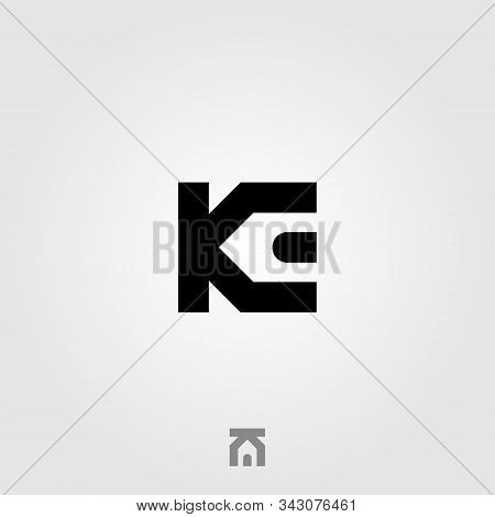 Initial Letter K E Real Estate House Logo Icon Vector Illustration Design