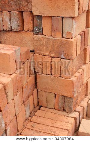 Rows of Adobe Bricks drying in the sun