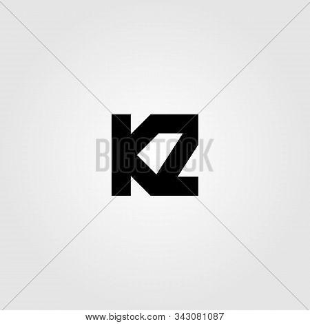 Initial Letter K Z Logo Icon Vector Illustration Design
