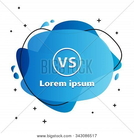 White Vs Versus Battle Icon Isolated On White Background. Competition Vs Match Game, Martial Battle
