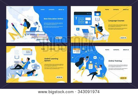 Online Training Landing Page. Video Tutorials, Training Courses, Online Library And Education, Landi