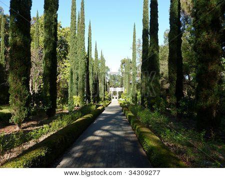 Formal garden at Villa Montalvo