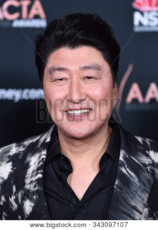 LOS ANGELES - JAN 03:  Song Kang Ho arrives for the AACTA International Awards 2020 on January 03, 2020 in West Hollywood, CA
