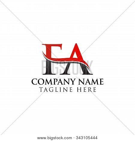 Fa Letter Type Logo Design Vector Template. Abstract Letter Fa Logo Design