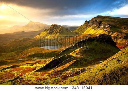 Morning Light In Quiraing, Isle Of Skye, Scotland