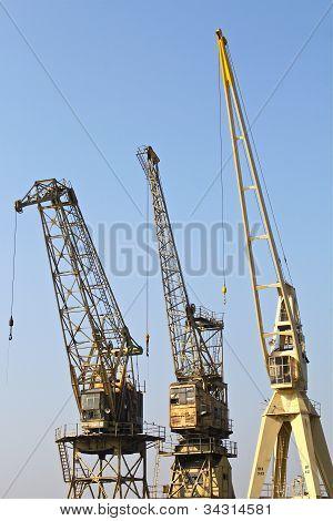 Old harbor cranes