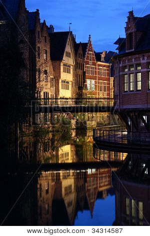 Ghent at sunset