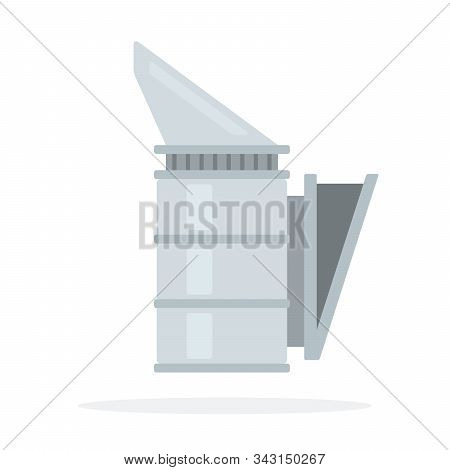 Smoker In Beekeeping Vector Flat Material Design Isolated Object On White Background.
