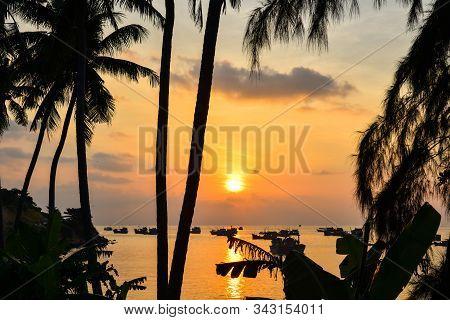 Beautiful Sea At Sunset