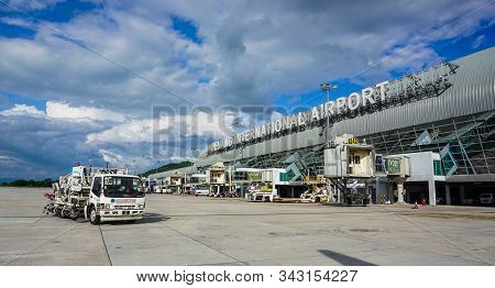 Penang, Malaysia - Aug 20, 2014. Main Building Of Penang Airport (pen). The Airport Also Has 64 Chec