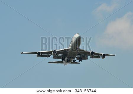 Passenger Airplane Landing At Bangkok Airport