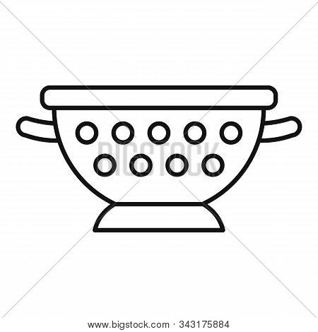 Steel Sieve Icon. Outline Steel Sieve Vector Icon For Web Design Isolated On White Background