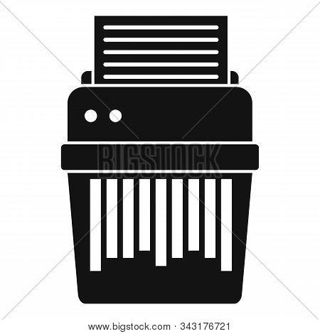 Shredder Icon. Simple Illustration Of Shredder Vector Icon For Web Design Isolated On White Backgrou