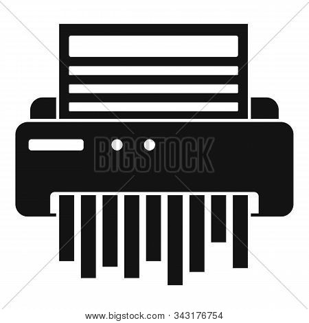 Paper Shredder Icon. Simple Illustration Of Paper Shredder Vector Icon For Web Design Isolated On Wh