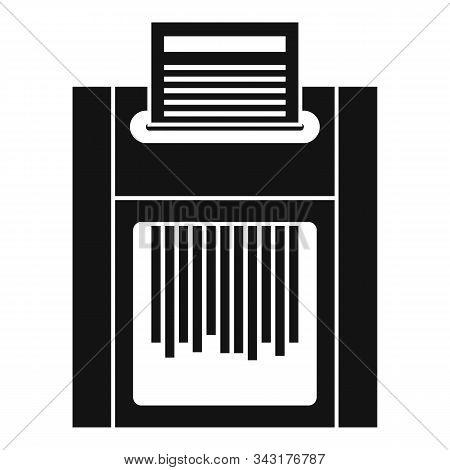 Office Shredder Icon. Simple Illustration Of Office Shredder Vector Icon For Web Design Isolated On