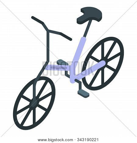 Electric Bicycle Icon. Isometric Of Electric Bicycle Vector Icon For Web Design Isolated On White Ba