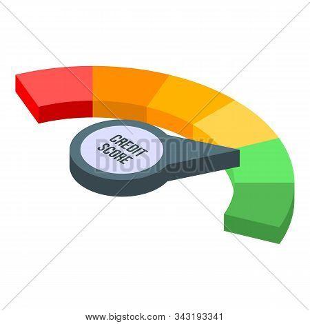 Credit Score Good Level Icon. Isometric Of Credit Score Good Level Vector Icon For Web Design Isolat