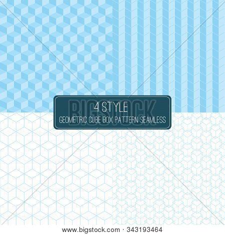 Foul Style Geometric Cube Box Pattern Seamless